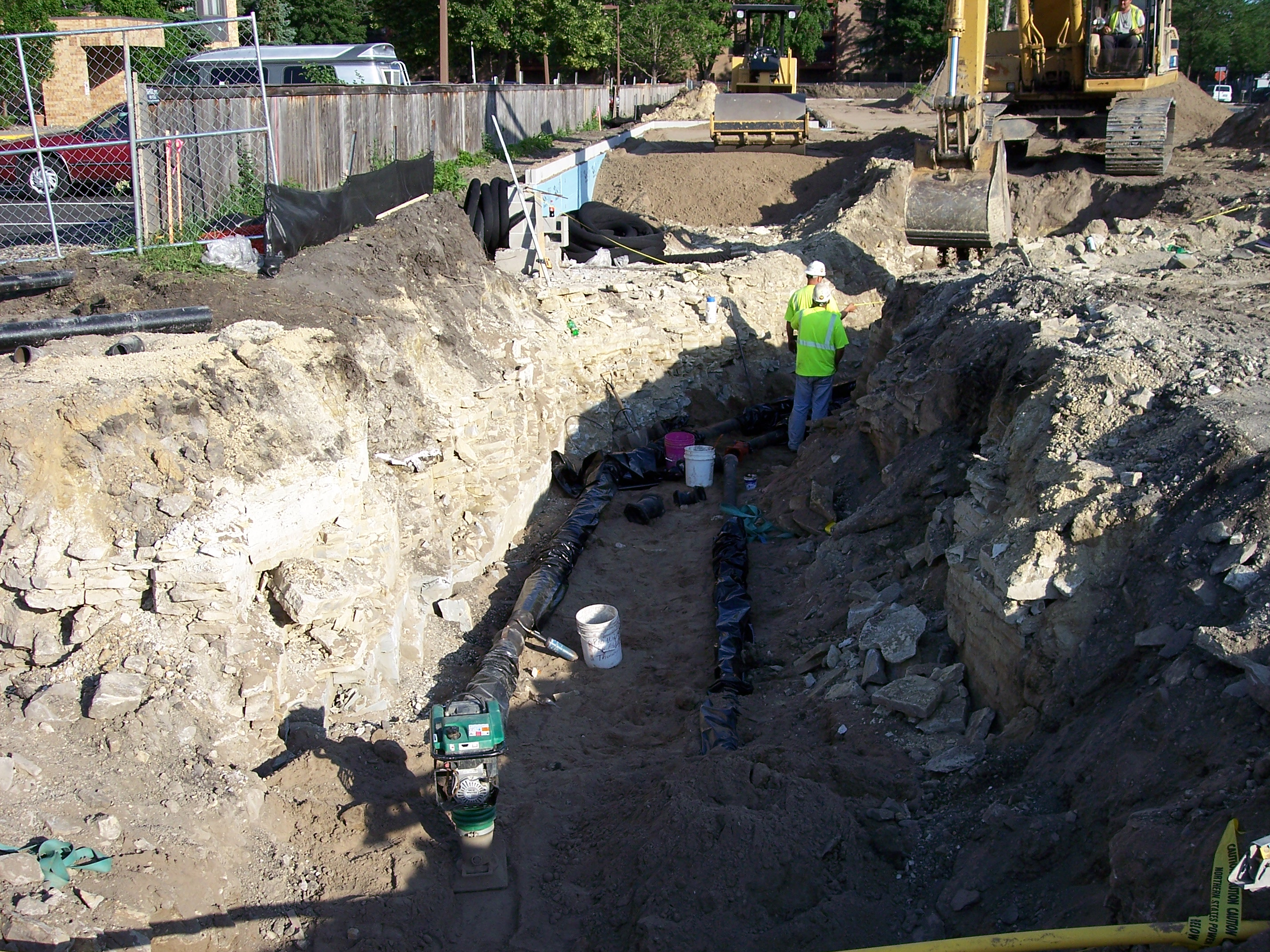 Utility work as part of a site work package